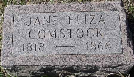 COMSTOCK, JANE ELIZA - Ida County, Iowa | JANE ELIZA COMSTOCK