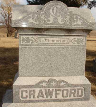 CRAWFORD, FAMILY MARKER - Ida County, Iowa   FAMILY MARKER CRAWFORD