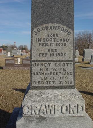 CRAWFORD, J. O. & JANET - Ida County, Iowa   J. O. & JANET CRAWFORD