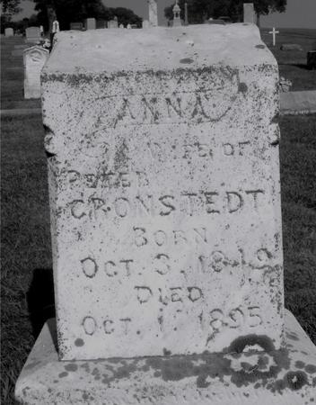 CRONSTEDT, ANNA - Ida County, Iowa   ANNA CRONSTEDT