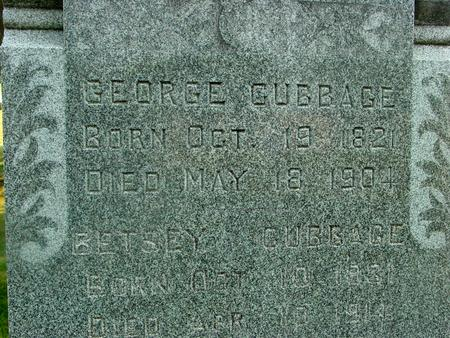 CUBBAGE, GEORGE & BETSEY - Ida County, Iowa | GEORGE & BETSEY CUBBAGE