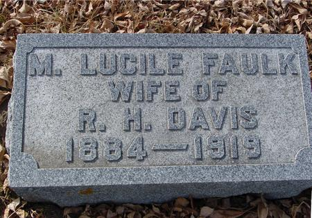 FAULK DAVIS, M. LUCILE - Ida County, Iowa | M. LUCILE FAULK DAVIS