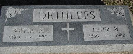 DETHLEFS, PETER & SOPHIA - Ida County, Iowa | PETER & SOPHIA DETHLEFS
