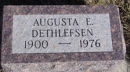 DETHLEFSEN, AUGUSTA E. - Ida County, Iowa   AUGUSTA E. DETHLEFSEN