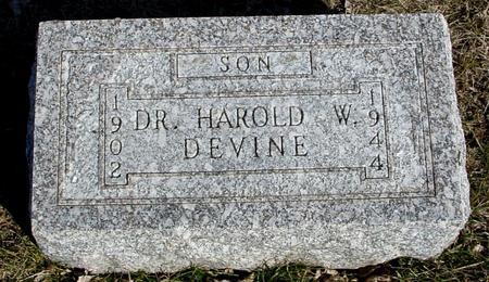 DEVINE, DR. HAROLD - Ida County, Iowa | DR. HAROLD DEVINE