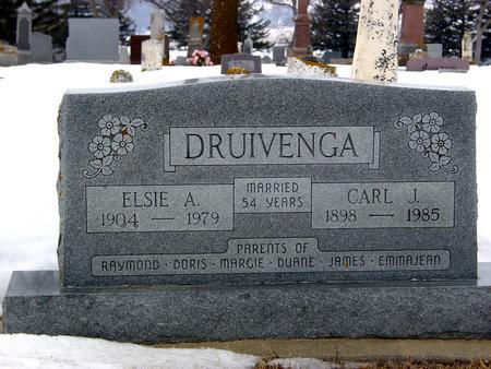 DRUIVENGA, CARL J. & ELSIE A. - Ida County, Iowa | CARL J. & ELSIE A. DRUIVENGA