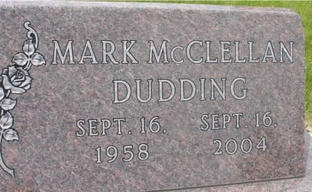 DUDDING, MARK MCCLELLAN - Ida County, Iowa   MARK MCCLELLAN DUDDING