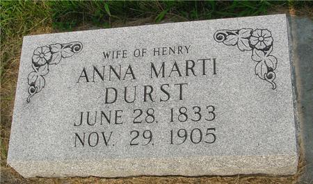 DURST, ANNA MARTI - Ida County, Iowa | ANNA MARTI DURST