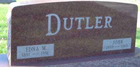 DUTLER, JOHN & EDNA - Ida County, Iowa | JOHN & EDNA DUTLER