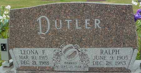 DUTLER, RALPH & LEONA - Ida County, Iowa | RALPH & LEONA DUTLER