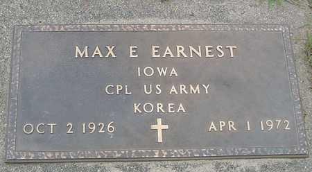 EARNEST, MAX E. - Ida County, Iowa   MAX E. EARNEST