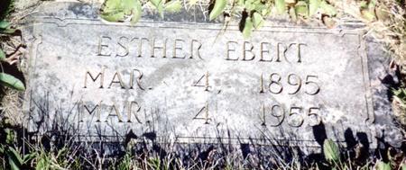 EBERT, ESTHER - Ida County, Iowa   ESTHER EBERT
