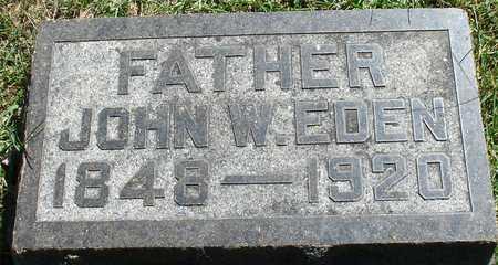 EDEN, JOHN W. - Ida County, Iowa   JOHN W. EDEN