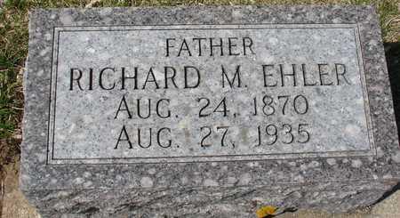 EHLER, RICHARD M. - Ida County, Iowa | RICHARD M. EHLER