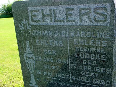 EHLERS, JOHANN - Ida County, Iowa | JOHANN EHLERS