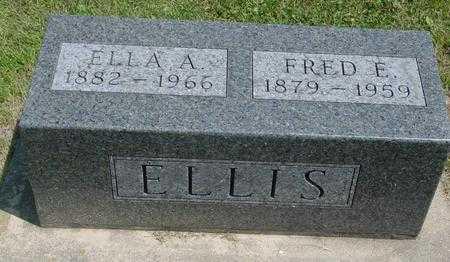 ELLIS, ELLA A. - Ida County, Iowa   ELLA A. ELLIS