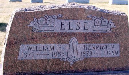 ELSE, WILLIAM & HENRIETTA - Ida County, Iowa   WILLIAM & HENRIETTA ELSE