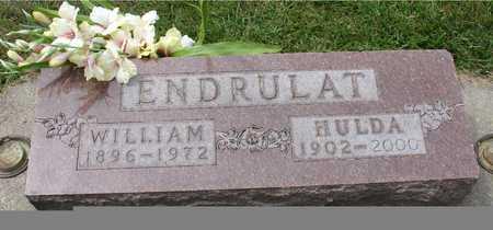ENDRULAT, WILLIAM & HULDA - Ida County, Iowa | WILLIAM & HULDA ENDRULAT