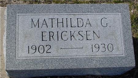 ERICKSEN, MATHILDA G. - Ida County, Iowa | MATHILDA G. ERICKSEN