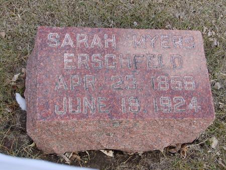 MYERS ERSCHFELD, SARAH - Ida County, Iowa   SARAH MYERS ERSCHFELD