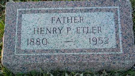 ETLER, HENRY P. - Ida County, Iowa   HENRY P. ETLER