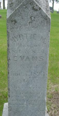 EVANS, MYRTLE M. - Ida County, Iowa | MYRTLE M. EVANS