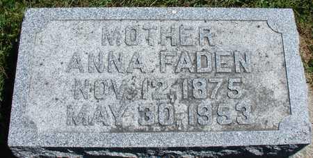 FADEN, ANNA - Ida County, Iowa | ANNA FADEN