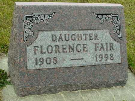FAIR, FLORENCE - Ida County, Iowa   FLORENCE FAIR