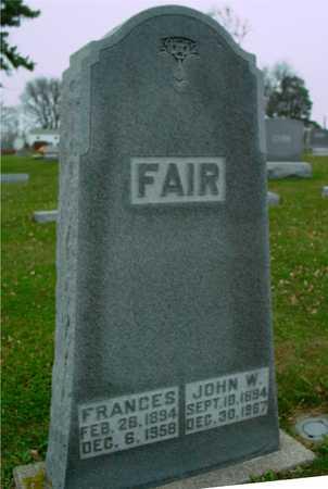 FAIR, JOHN & FRANCES - Ida County, Iowa   JOHN & FRANCES FAIR