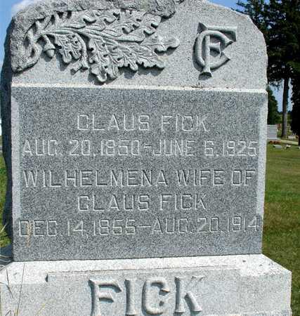 FICK, CLAUS & WILHELMENA - Ida County, Iowa | CLAUS & WILHELMENA FICK