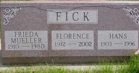 MUELLER FICK, FRIEDA - Ida County, Iowa | FRIEDA MUELLER FICK
