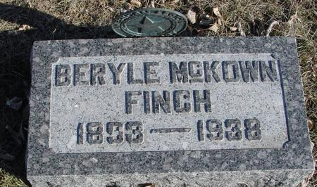 FINCH, BERYLE - Ida County, Iowa | BERYLE FINCH