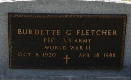 FLETCHER, BURDETTE G. - Ida County, Iowa | BURDETTE G. FLETCHER