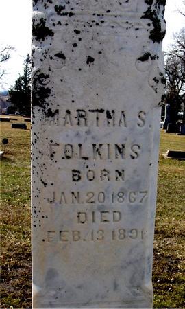 FOLKINS, MARTHA S. - Ida County, Iowa | MARTHA S. FOLKINS