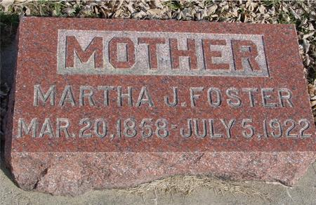 FOSTER, MARTHA J. - Ida County, Iowa | MARTHA J. FOSTER