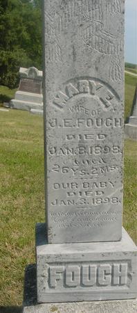 FOUCH, MARY E. & BABY - Ida County, Iowa | MARY E. & BABY FOUCH