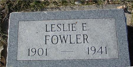 FOWLER, LESLIE E. - Ida County, Iowa | LESLIE E. FOWLER