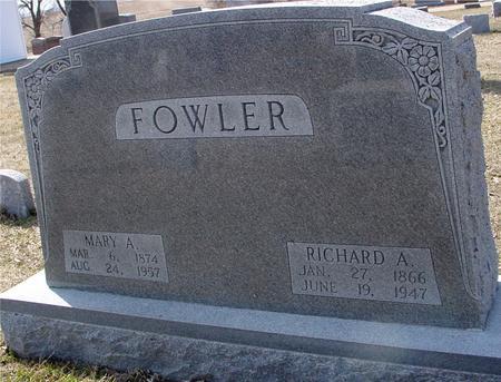 FOWLER, RICHARD, MARY - Ida County, Iowa   RICHARD, MARY FOWLER