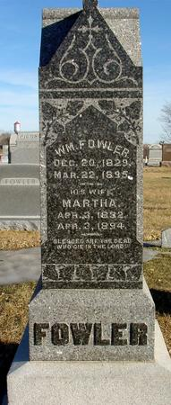 FOWLER, WILLIAM & MARTHA - Ida County, Iowa | WILLIAM & MARTHA FOWLER