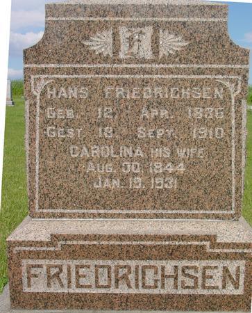 FRIEDRICHSEN, HANS - Ida County, Iowa | HANS FRIEDRICHSEN