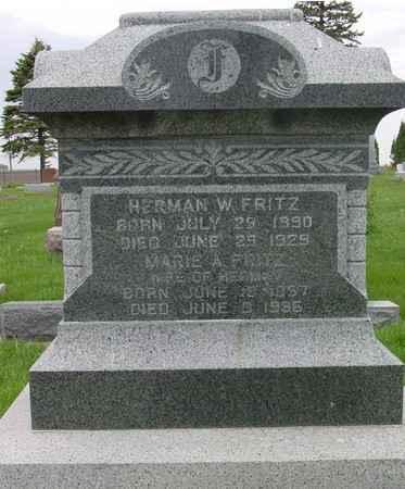FRITZ, HERMAN & MARIE - Ida County, Iowa   HERMAN & MARIE FRITZ