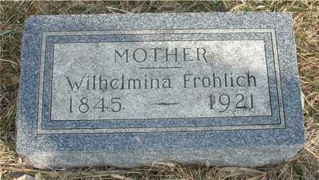 FROHLICH, WILHELMINA - Ida County, Iowa   WILHELMINA FROHLICH
