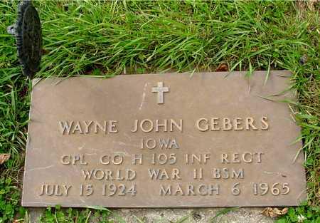 GEBERS, WAYNE JOHN - Ida County, Iowa | WAYNE JOHN GEBERS