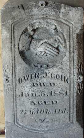 GOIN, OWEN J. - Ida County, Iowa | OWEN J. GOIN
