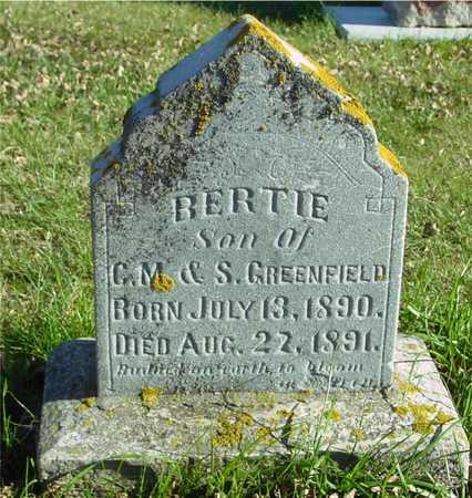 GREENFIELD, BERTIE - Ida County, Iowa | BERTIE GREENFIELD