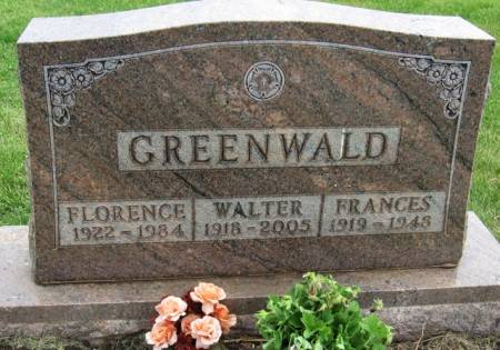 GREENWALD, FLORENCE - Ida County, Iowa   FLORENCE GREENWALD