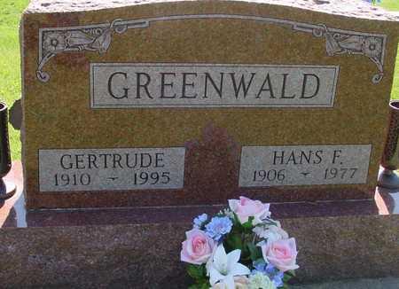 GREENWALD, HANS & GERTRUDE - Ida County, Iowa   HANS & GERTRUDE GREENWALD