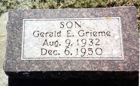 GRIEME, GERALD E. - Ida County, Iowa | GERALD E. GRIEME