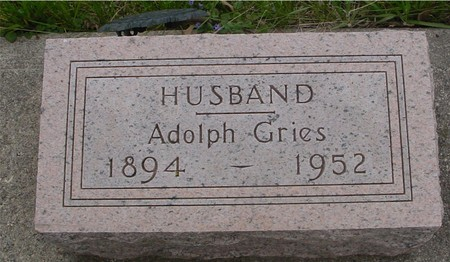 GRIES, ADOLPH - Ida County, Iowa   ADOLPH GRIES