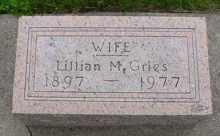 GRIES, LILLIAN M. - Ida County, Iowa | LILLIAN M. GRIES